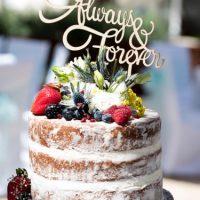Semi Naked Wedding Cake - Algarve Cake Maker