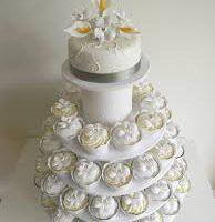 Algarve wedding cup cakes